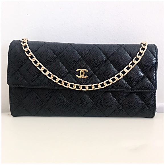 CHANEL Bags   Authentic Wallet On Chain Bag Black Caviar   Poshmark 87fa56ca90